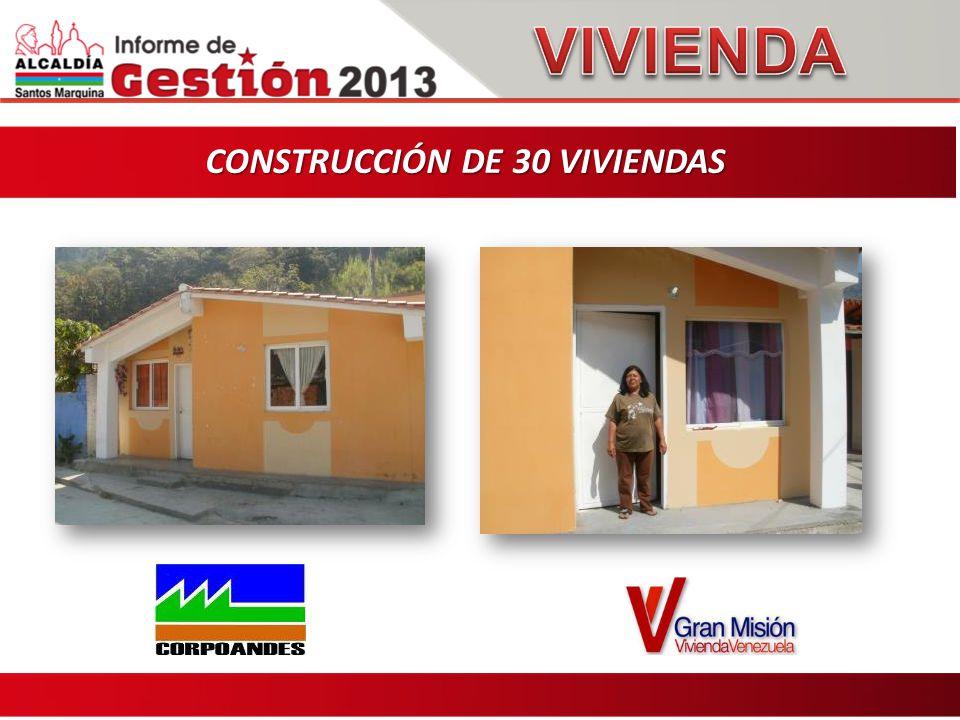 CONSTRUCCIÓN DE 30 VIVIENDAS CONSTRUCCIÓN DE 30 VIVIENDAS