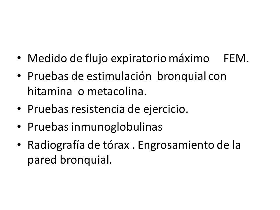 Medido de flujo expiratorio máximo FEM.