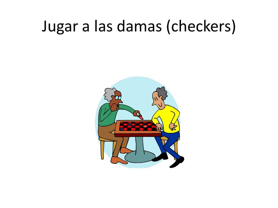 Jugar a las damas (checkers)