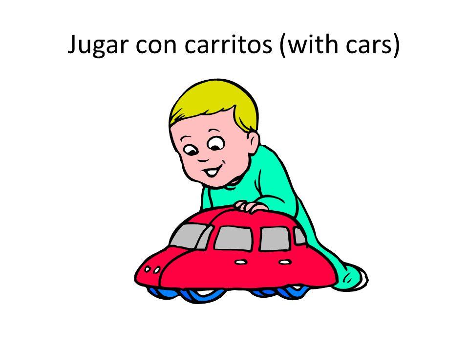 Jugar con carritos (with cars)