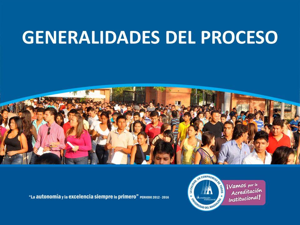 GENERALIDADES DEL PROCESO