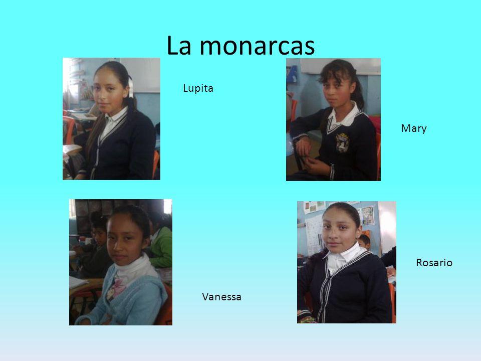La monarcas Mary Lupita Vanessa Rosario