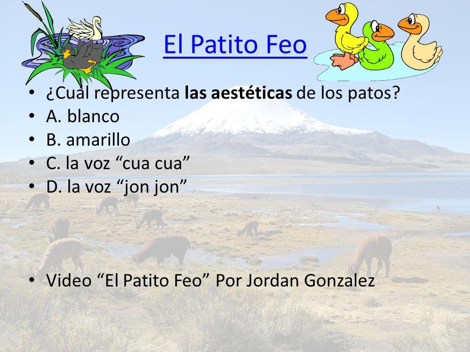 El Patito Feo ¿Cuál representa las aestéticas de los patos.