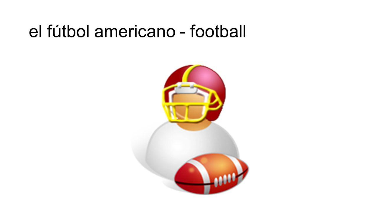 el fútbol americano - football