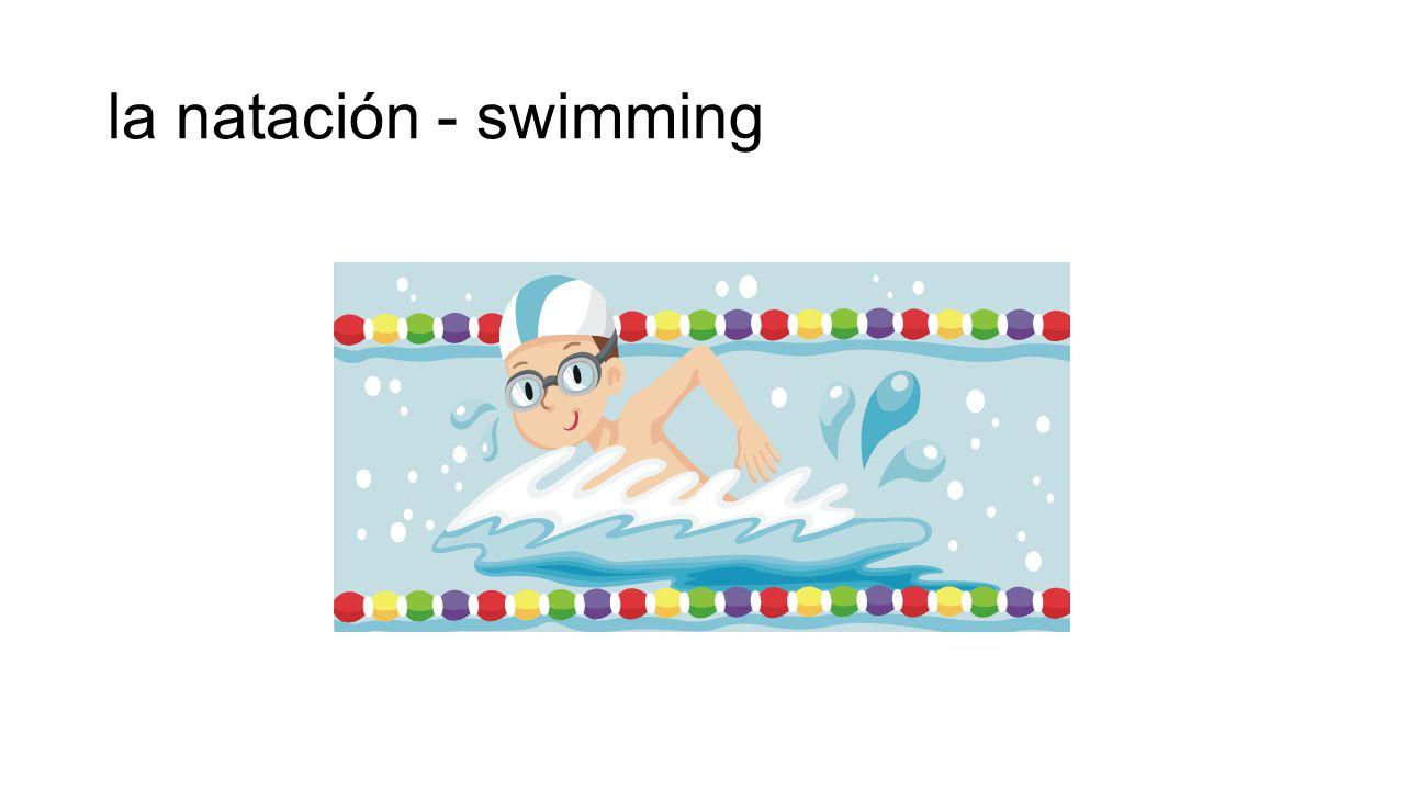 la natación - swimming
