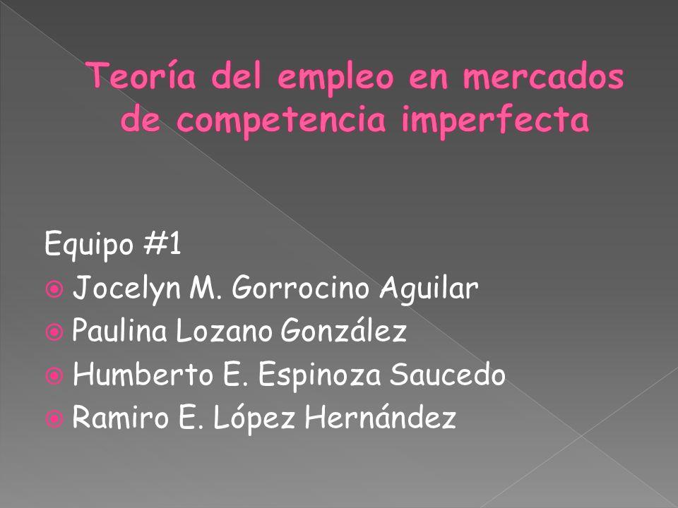 Equipo #1  Jocelyn M. Gorrocino Aguilar  Paulina Lozano González  Humberto E.