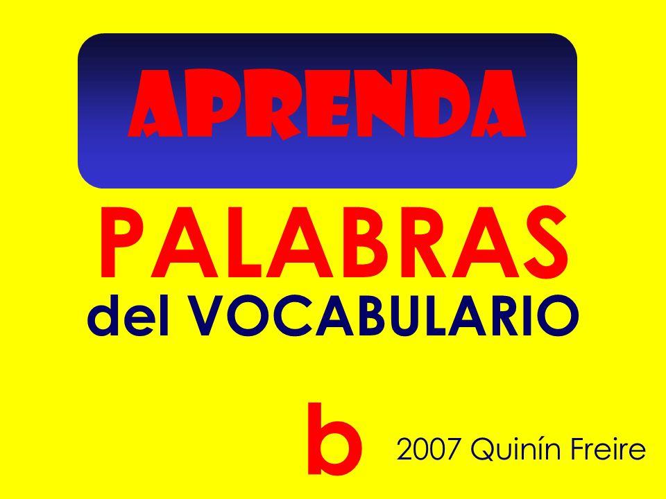 APRENDA PALABRAS 2007 Quinín Freire b del VOCABULARIO