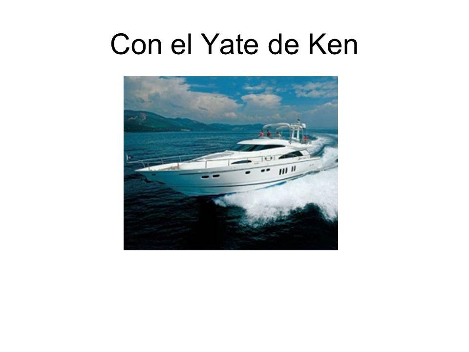 Con el Yate de Ken