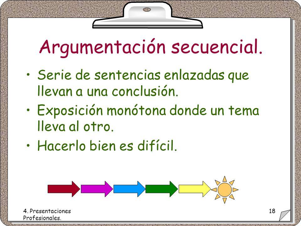 4. Presentaciones Profesionales. 18 Argumentación secuencial.