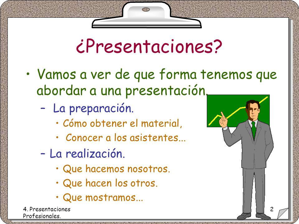 4. Presentaciones Profesionales. 2 ¿Presentaciones.