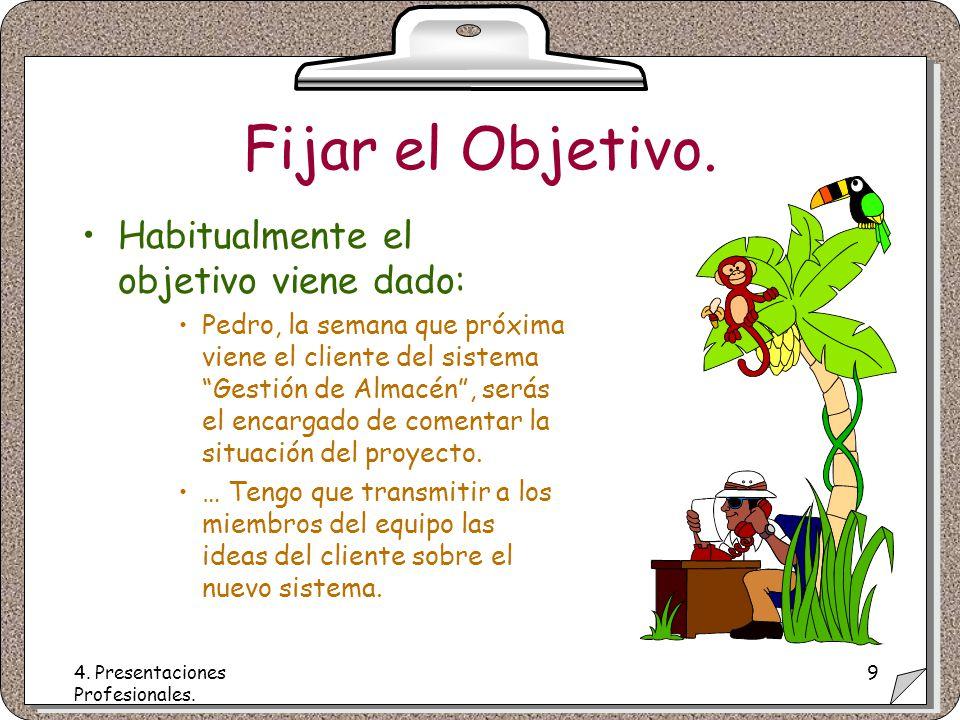 4. Presentaciones Profesionales. 9 Fijar el Objetivo.