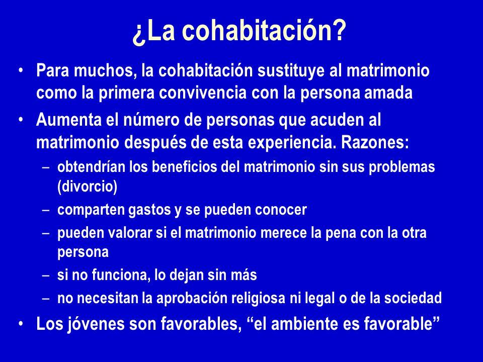 ¿La cohabitación.
