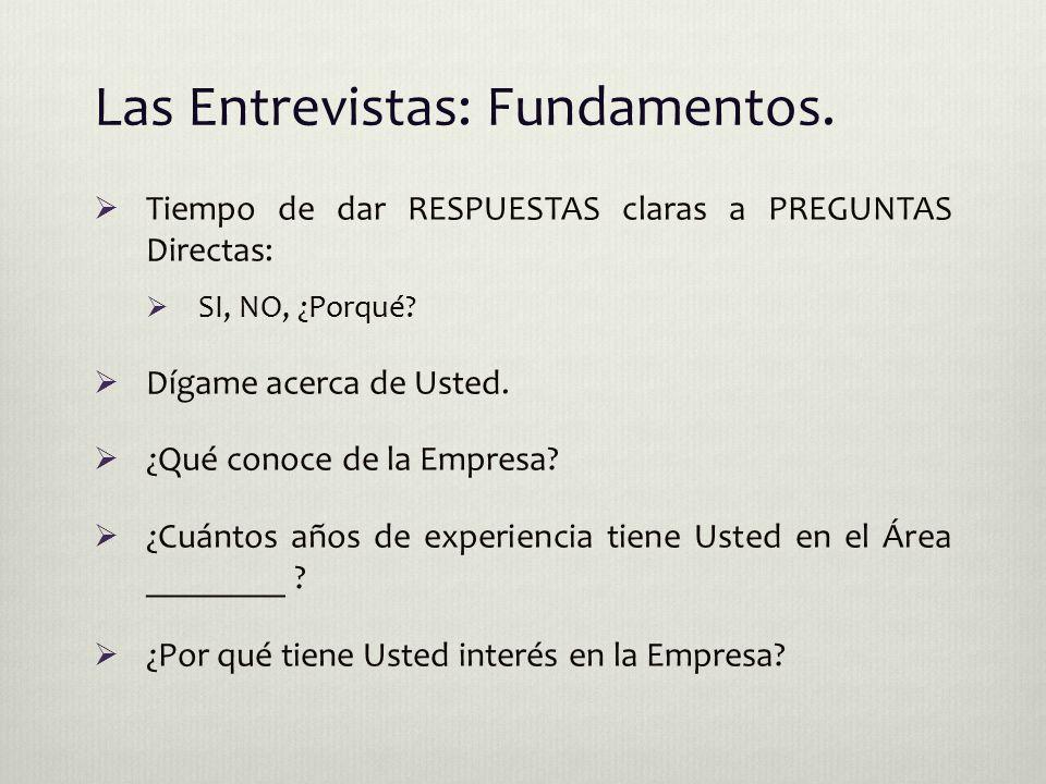 Las Entrevistas: Fundamentos.
