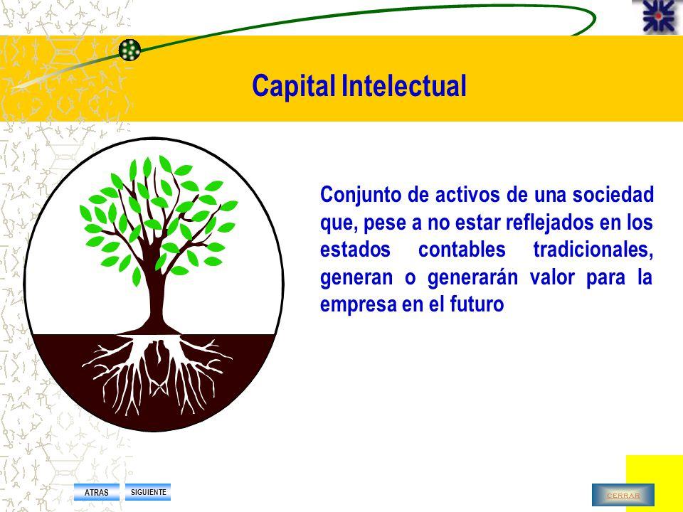 Capital Intelectual Conjunto de competencias básicas distintivas de carácter intangible que permiten crear y sostener la ventaja competitiva Actitudes o valores Conocimientos tácitos y explícitos Capacidades (habilidades, experiencias y talentos) (E.