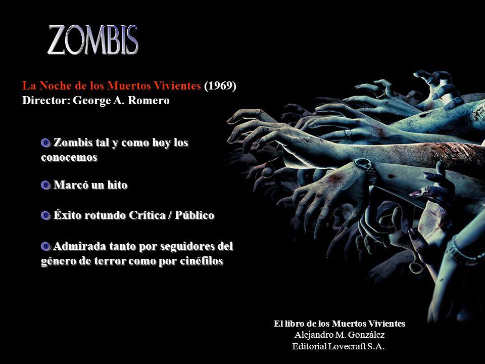El libro de los Muertos Vivientes Alejandro M. González Editorial Lovecraft S.A.