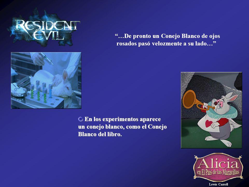 Lewis Carroll En los experimentos aparece En los experimentos aparece un conejo blanco, como el Conejo Blanco del libro.