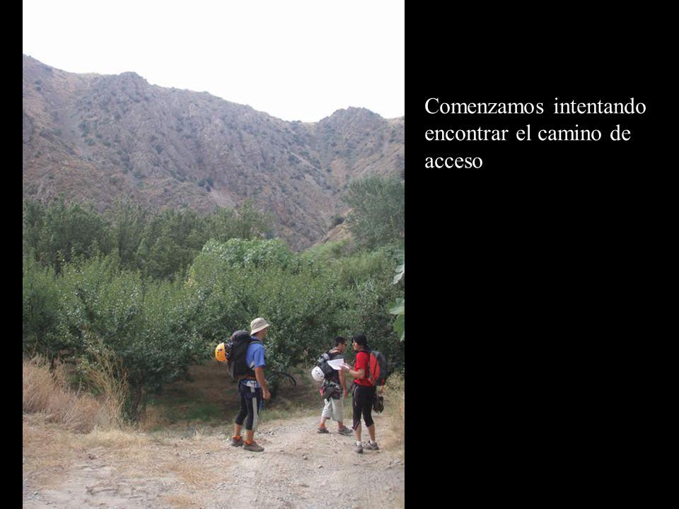 Comenzamos intentando encontrar el camino de acceso