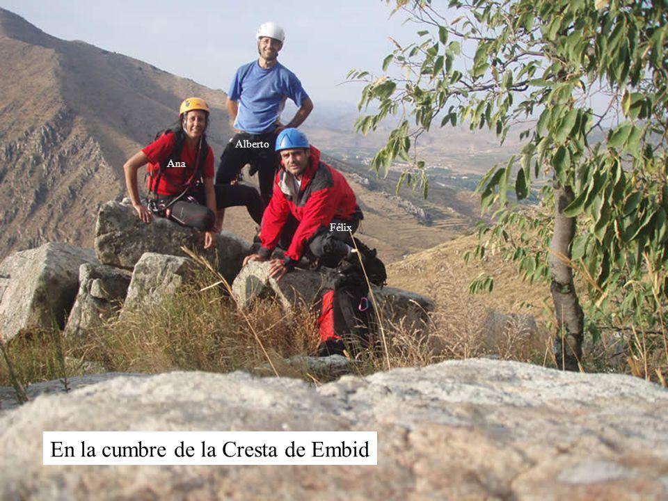 En la cumbre de la Cresta de Embid Ana Alberto Félix