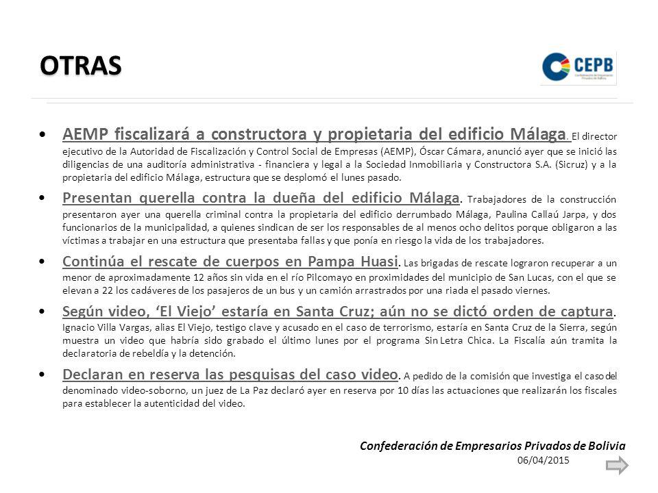OTRAS AEMP fiscalizará a constructora y propietaria del edificio Málaga.