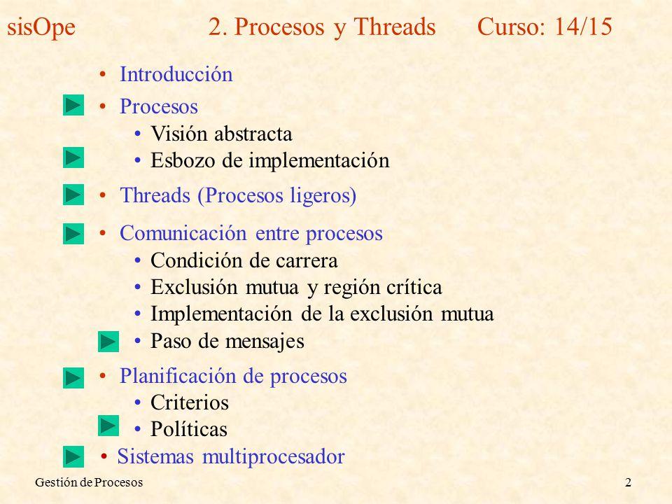 Gestión de Procesos2 sisOpe2.