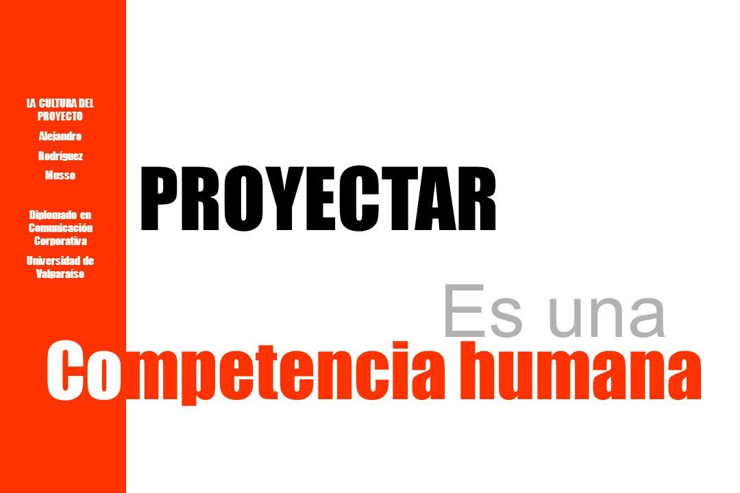 LA CULTURA DEL PROYECTO Alejandro Rodríguez Musso Diplomado en Comunicación Corporativa Universidad de Valparaíso P R O Y E C T O C U L T U R A de