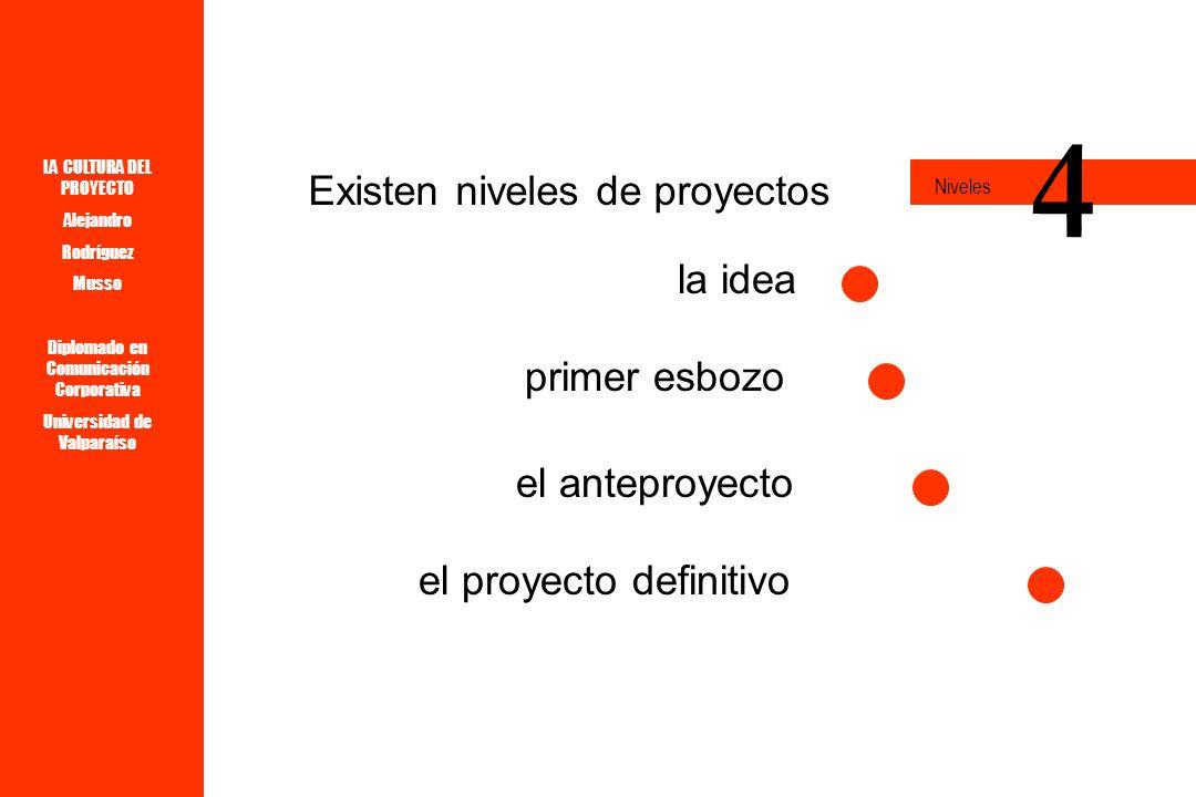 LA CULTURA DEL PROYECTO Alejandro Rodríguez Musso Diplomado en Comunicación Corporativa Universidad de Valparaíso y Un PROYECTO Ordena, define, organiza.