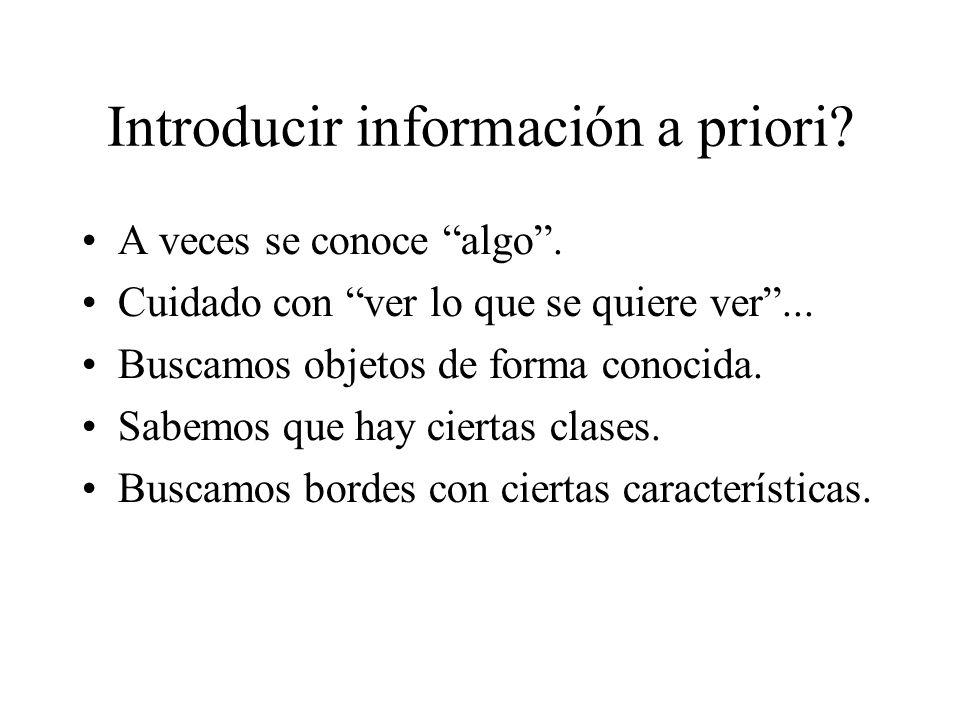 Introducir información a priori. A veces se conoce algo .