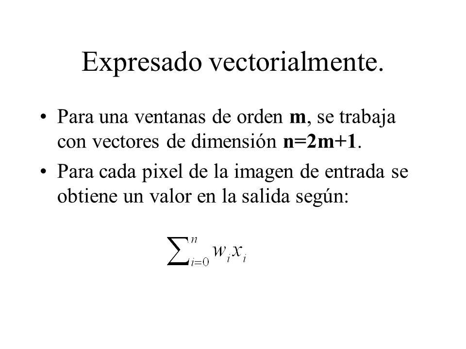 Expresado vectorialmente.