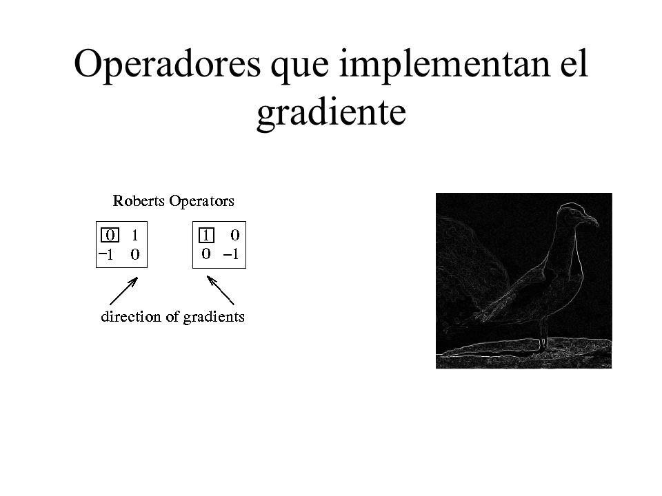 Operadores que implementan el gradiente