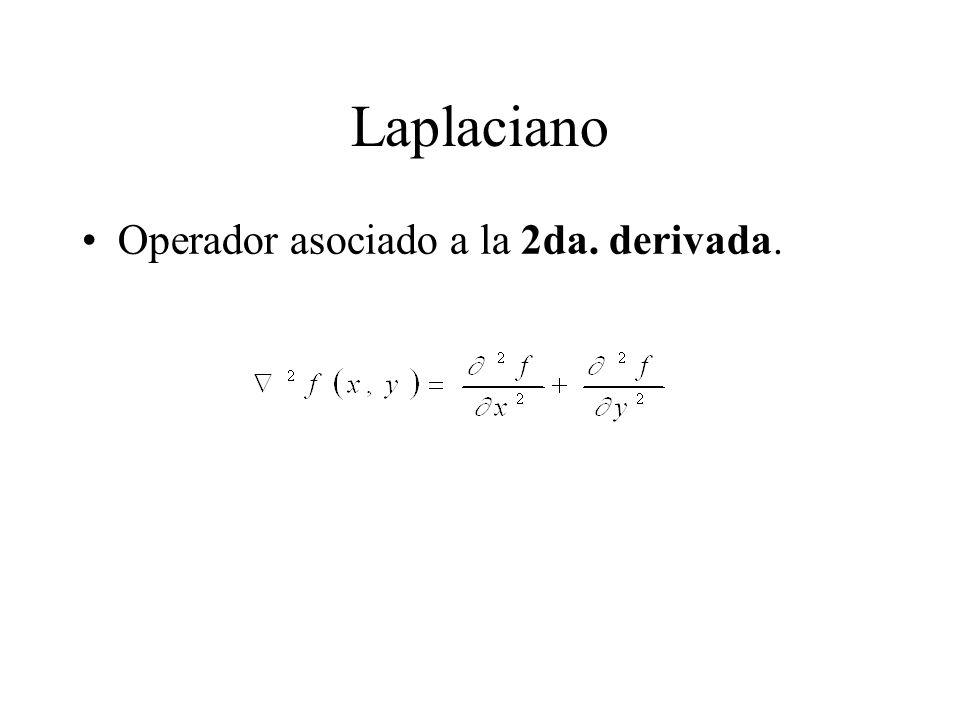 Laplaciano Operador asociado a la 2da. derivada.