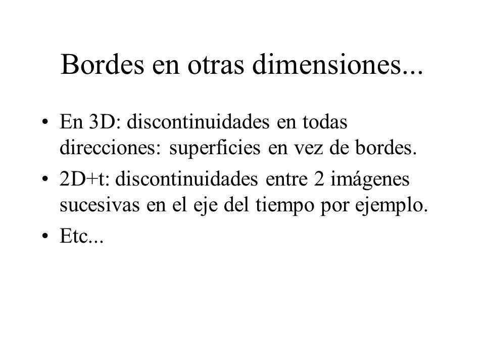 Bordes en otras dimensiones...