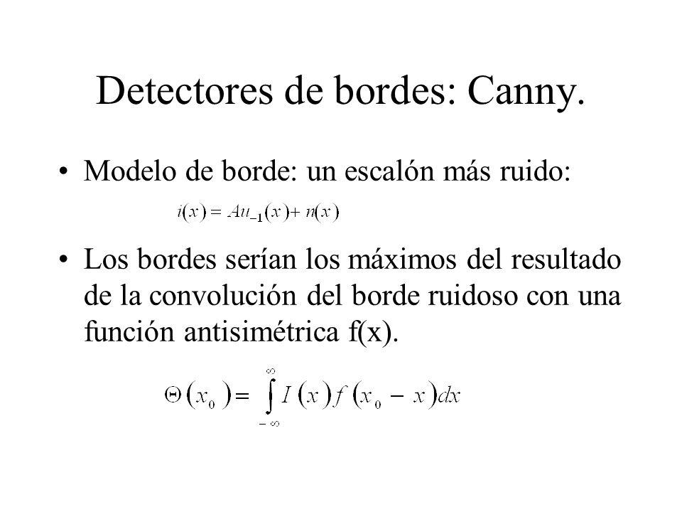 Detectores de bordes: Canny.