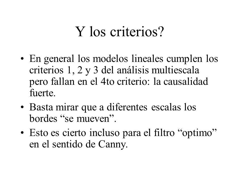 Y los criterios.