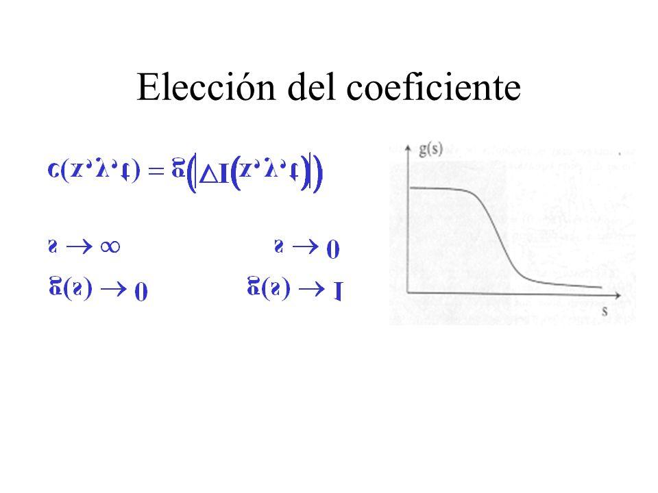 Elección del coeficiente