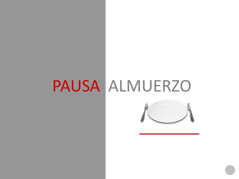 PAUSA ALMUERZO