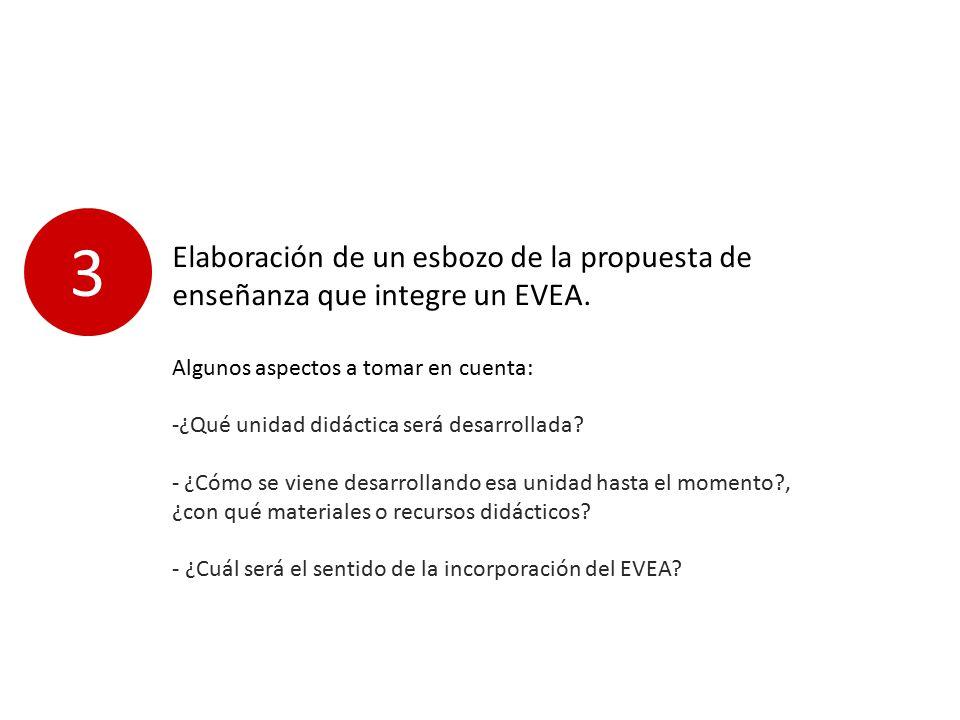 Elaboración de un esbozo de la propuesta de enseñanza que integre un EVEA.
