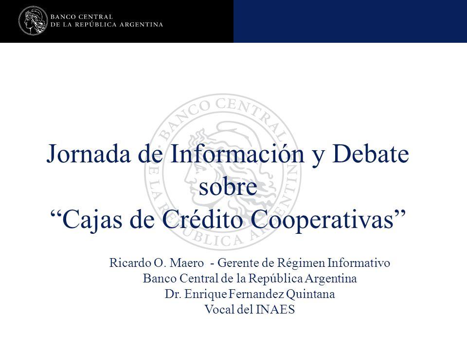 Jornada de Información y Debate sobre Cajas de Crédito Cooperativas Ricardo O.