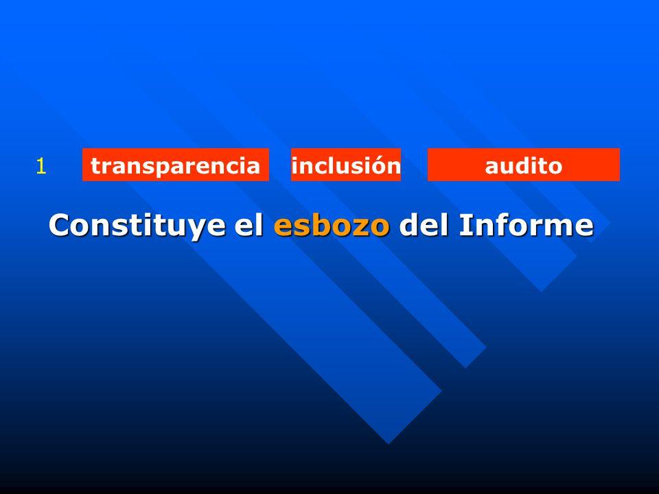 transparenciainclusiónaudito1 Constituye el esbozo del Informe