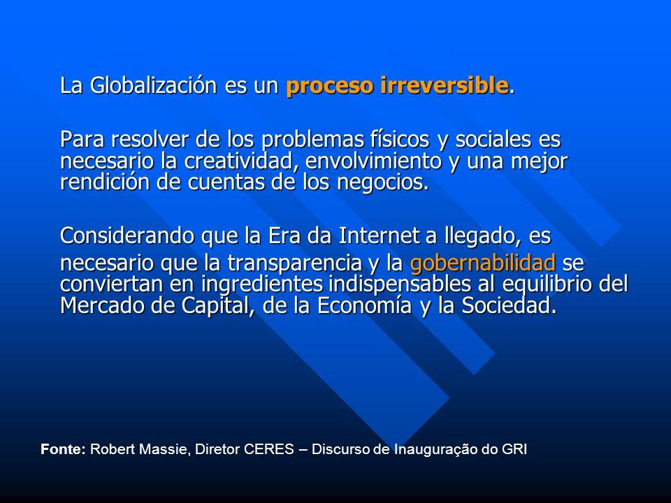 La Globalización es un proceso irreversible.