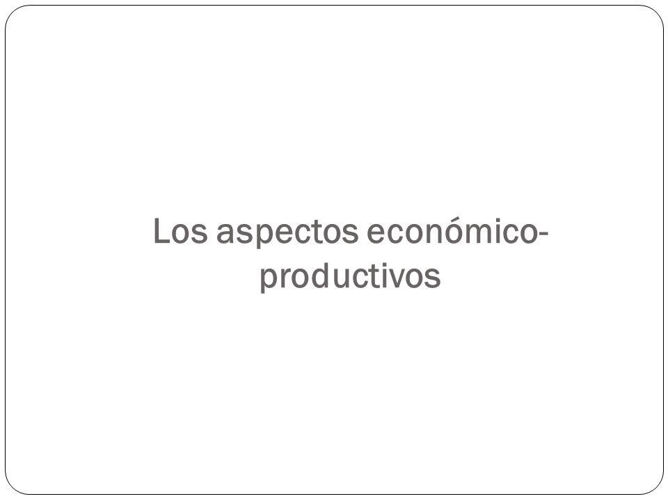 Los aspectos económico- productivos