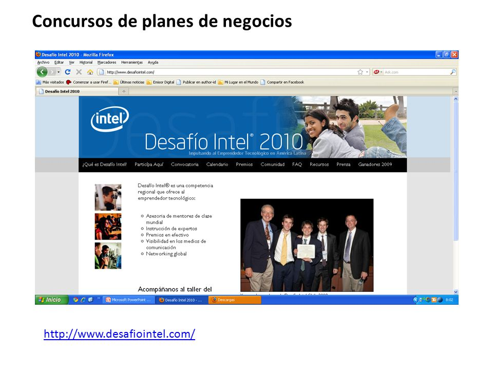 Concursos de planes de negocios http://www.desafiointel.com/