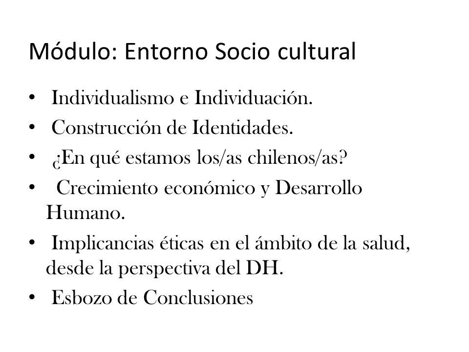 Módulo: Entorno Socio cultural Individualismo e Individuación.