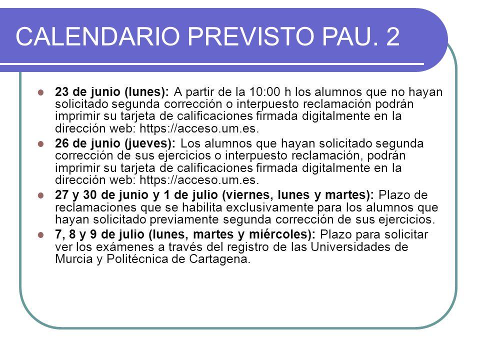CALENDARIO PREVISTO PAU.