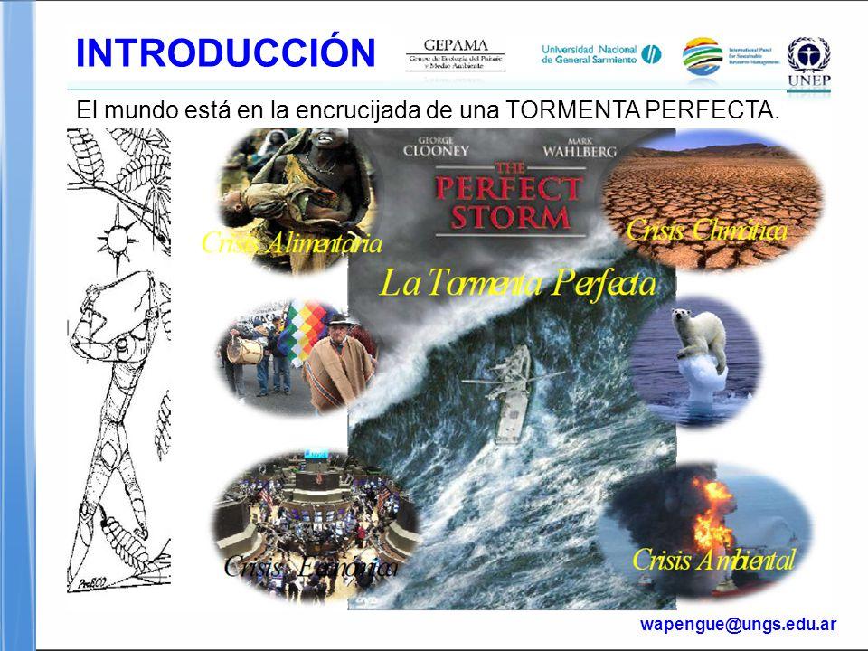 Page  4 INTRODUCCIÓN wapengue@ungs.edu.ar El mundo está en la encrucijada de una TORMENTA PERFECTA.