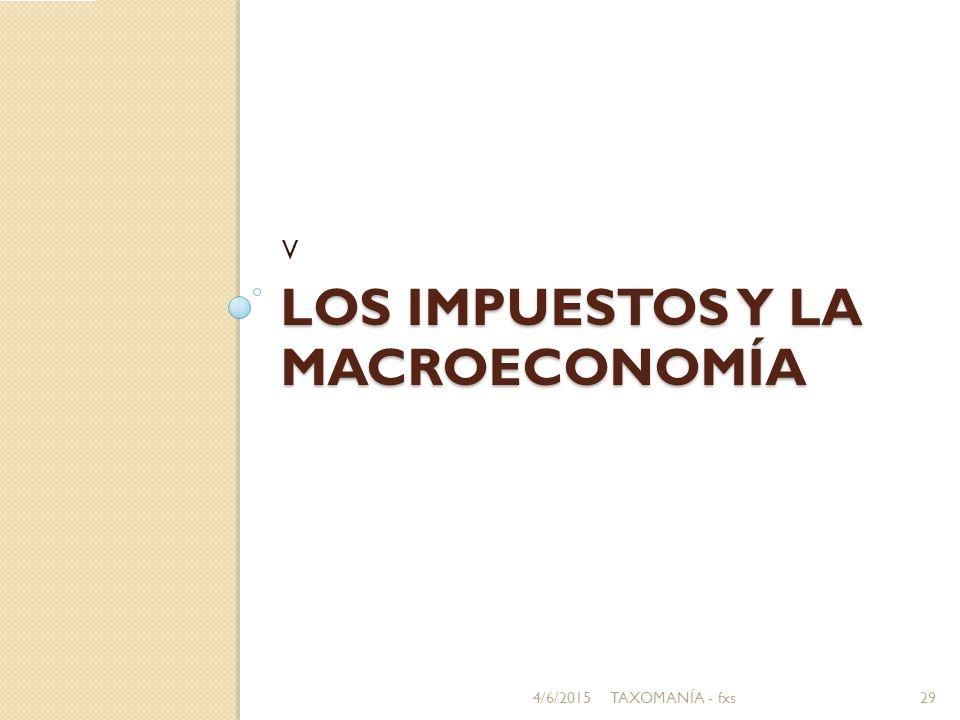 LOS IMPUESTOS Y LA MACROECONOMÍA V 4/6/201529TAXOMANÍA - fxs