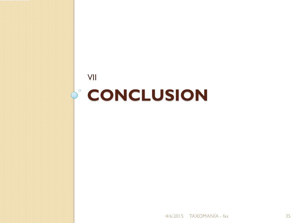 CONCLUSION VII 4/6/201535TAXOMANÍA - fxs