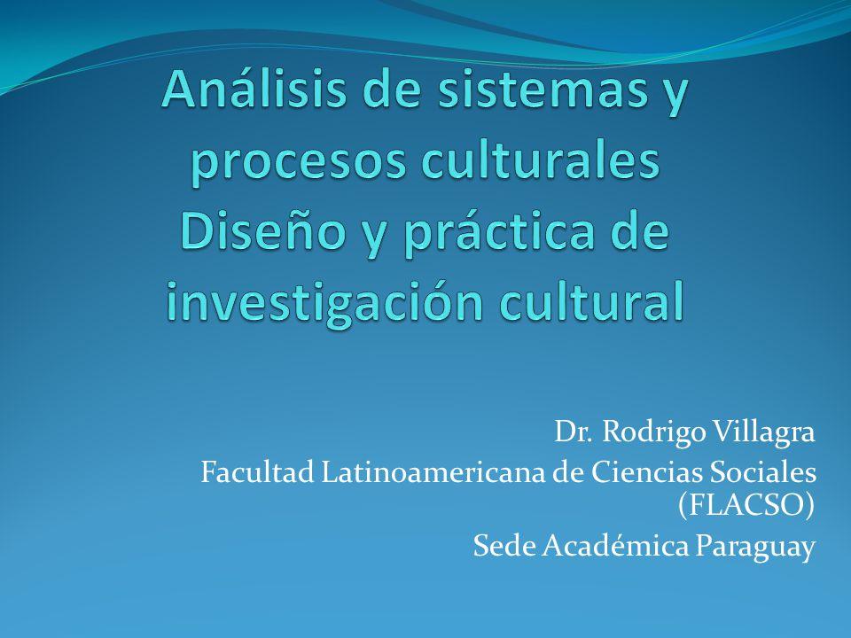 Dr. Rodrigo Villagra Facultad Latinoamericana de Ciencias Sociales (FLACSO) Sede Académica Paraguay