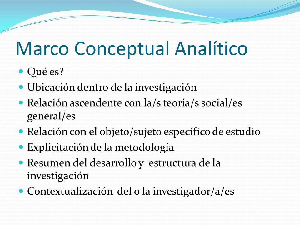 Marco Conceptual Analítico Qué es.