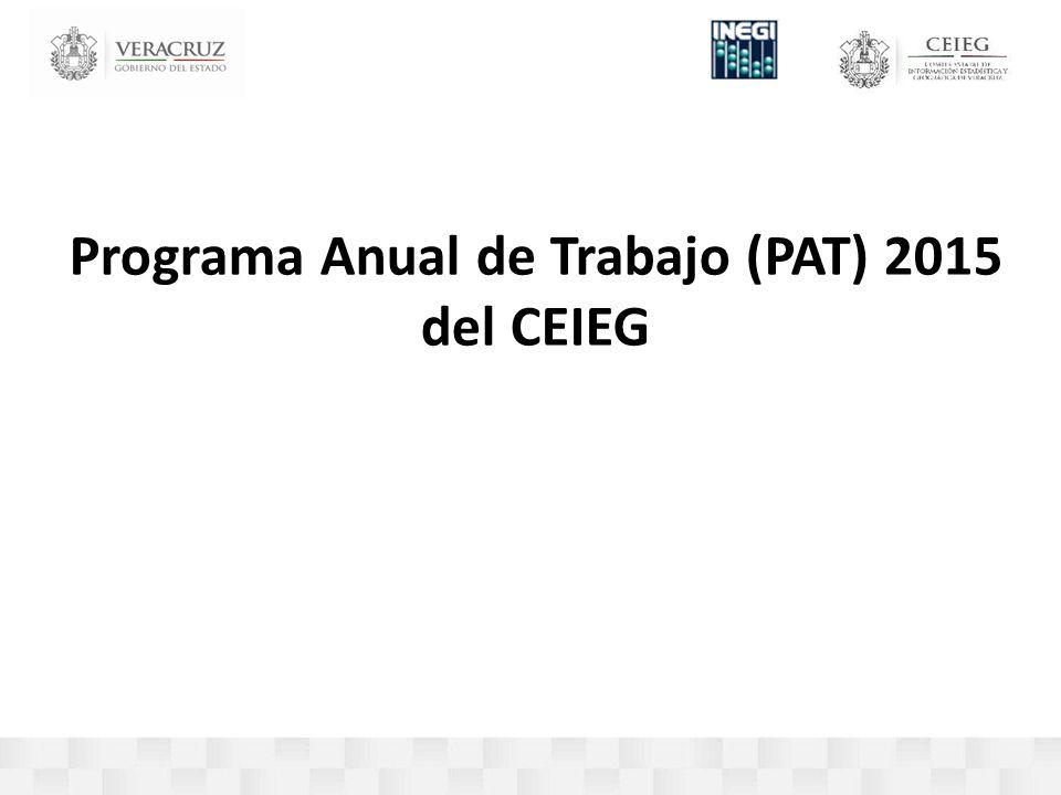 Programa Anual de Trabajo (PAT) 2015 del CEIEG