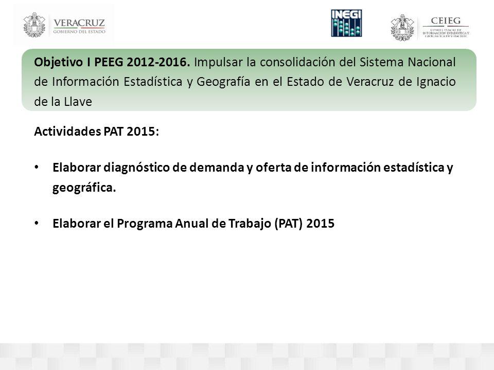 Objetivo I PEEG 2012-2016.